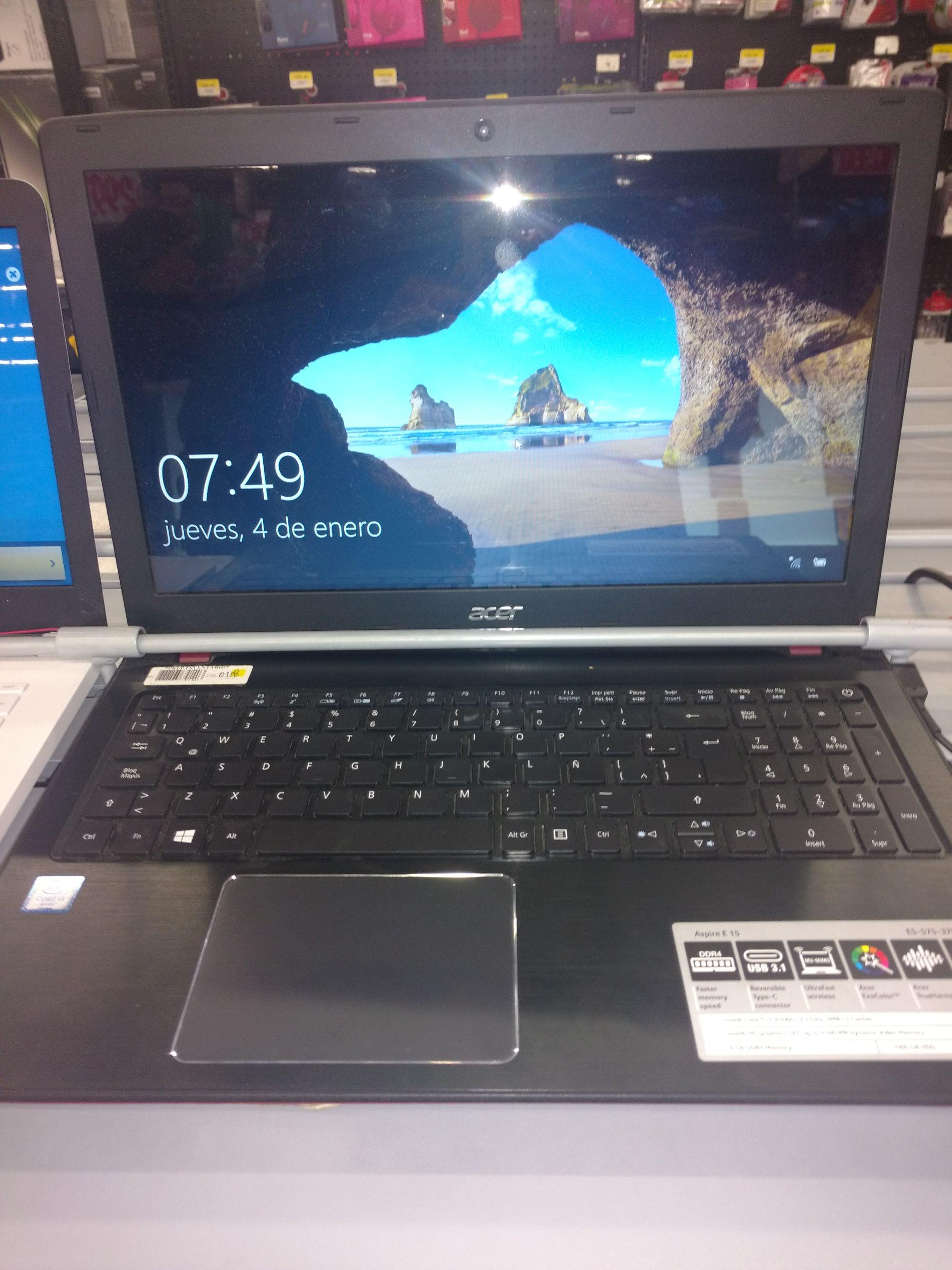Bodega Aurrera Tuxtla: Acer Aspire E15 8GB ram y 1TB