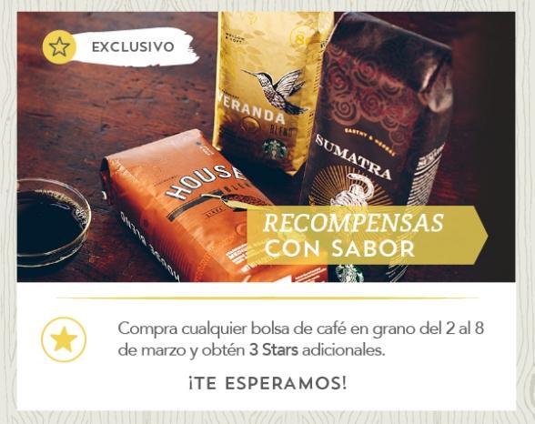Starbucks: 3 stars adicionales comprando de bolsa de café