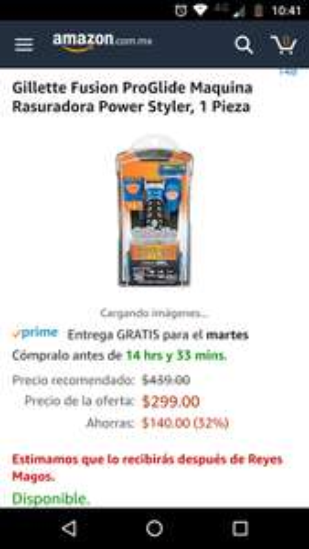 Amazon: Rasuradora eléctrica Fusión Proglide ProGlide