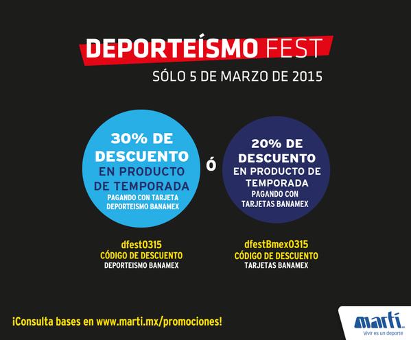 Martí: Deporteísmo fest 2015 el 5 de marzo