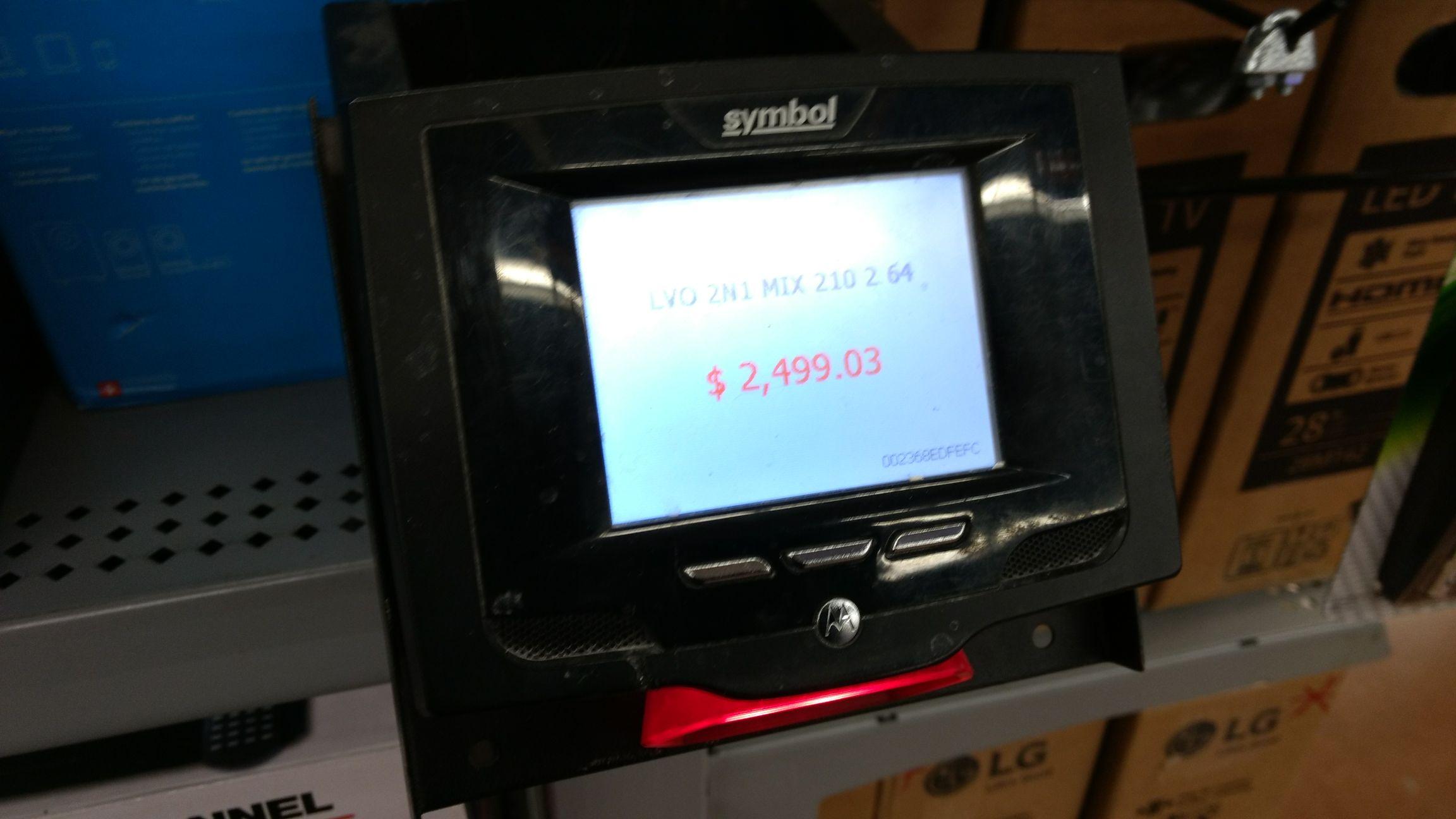 Walmart: liquidación Lenovo mix 210