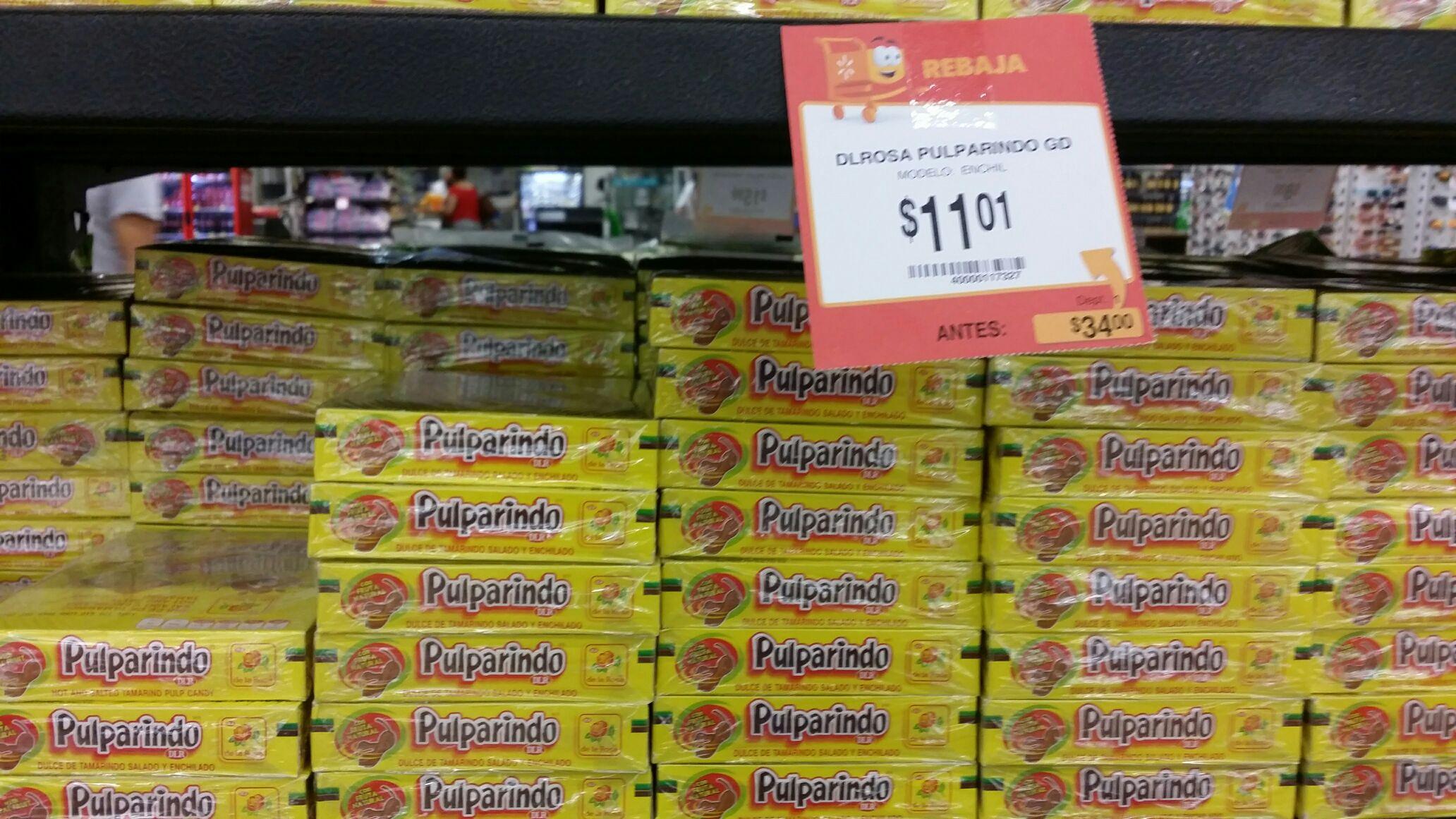 Walmart: Dulces pulparindo $11.01 y pelon pelorico $16