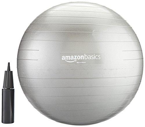 Amazon: AmazonBasics Bola de equilibrio con bomba manual, 55, 65 y 75 cm