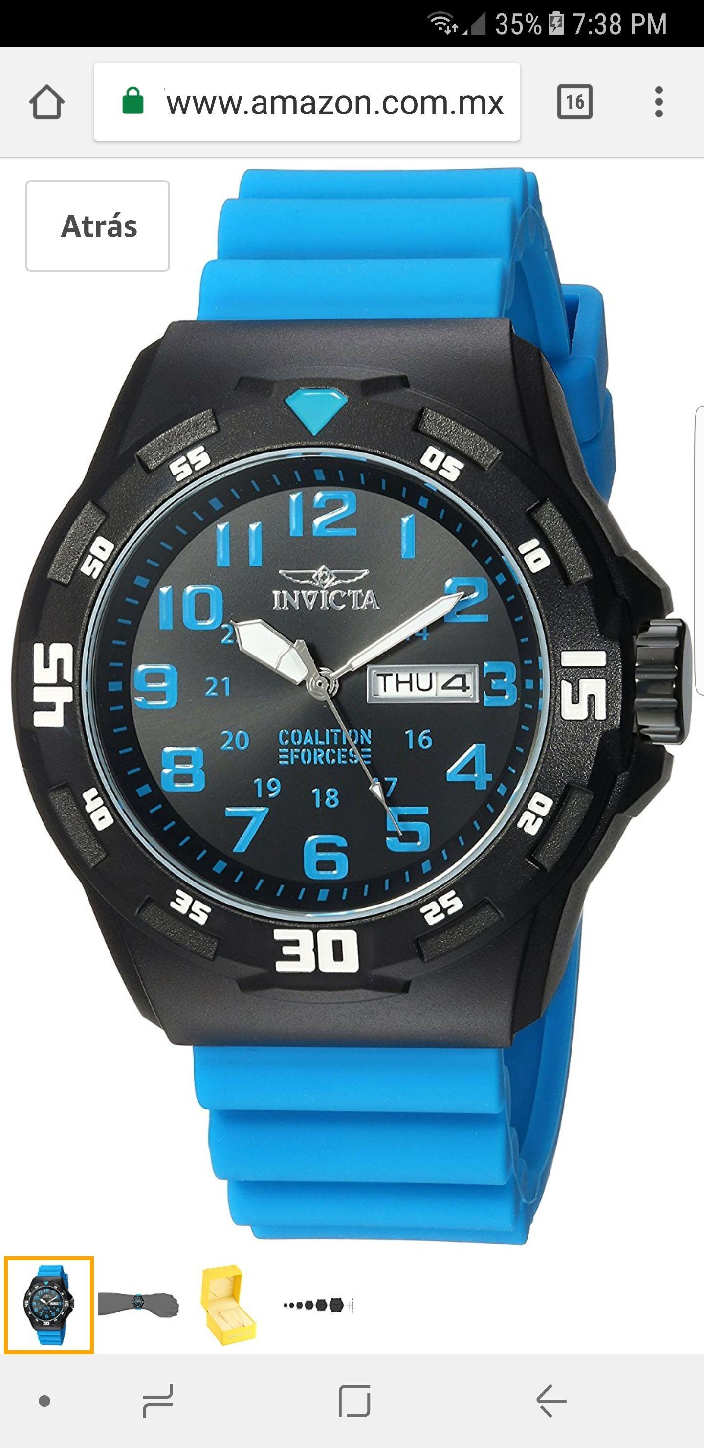 Amazon: Reloj Invicta azul con negro Model: 25330
