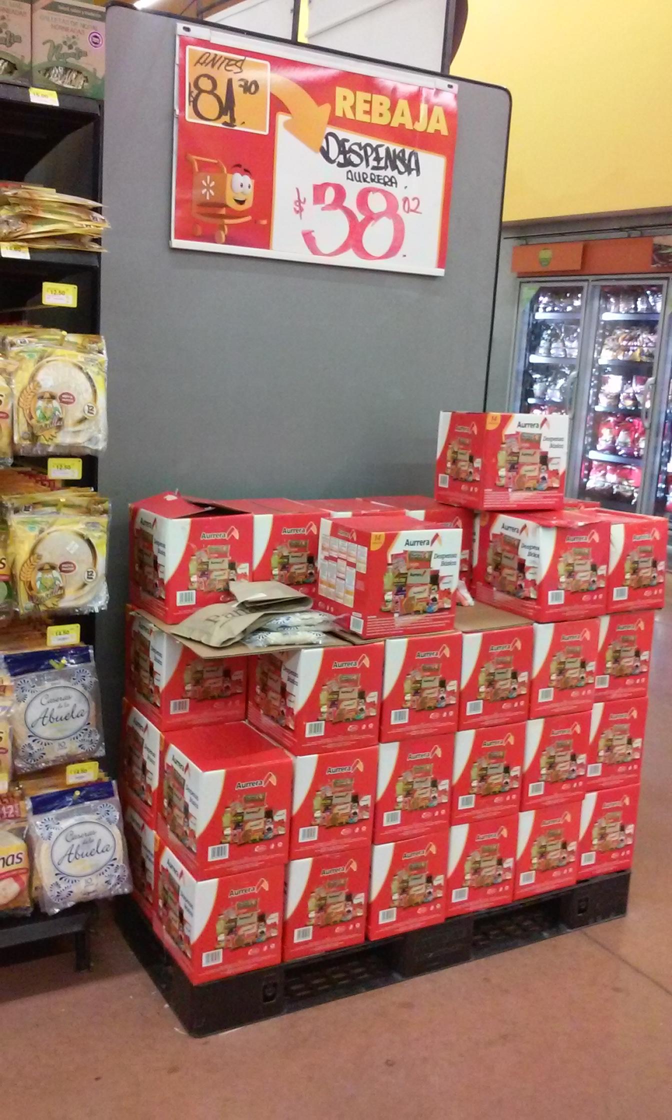 Walmart: Segunda rebaja en despensas de $81.70 en $38.02