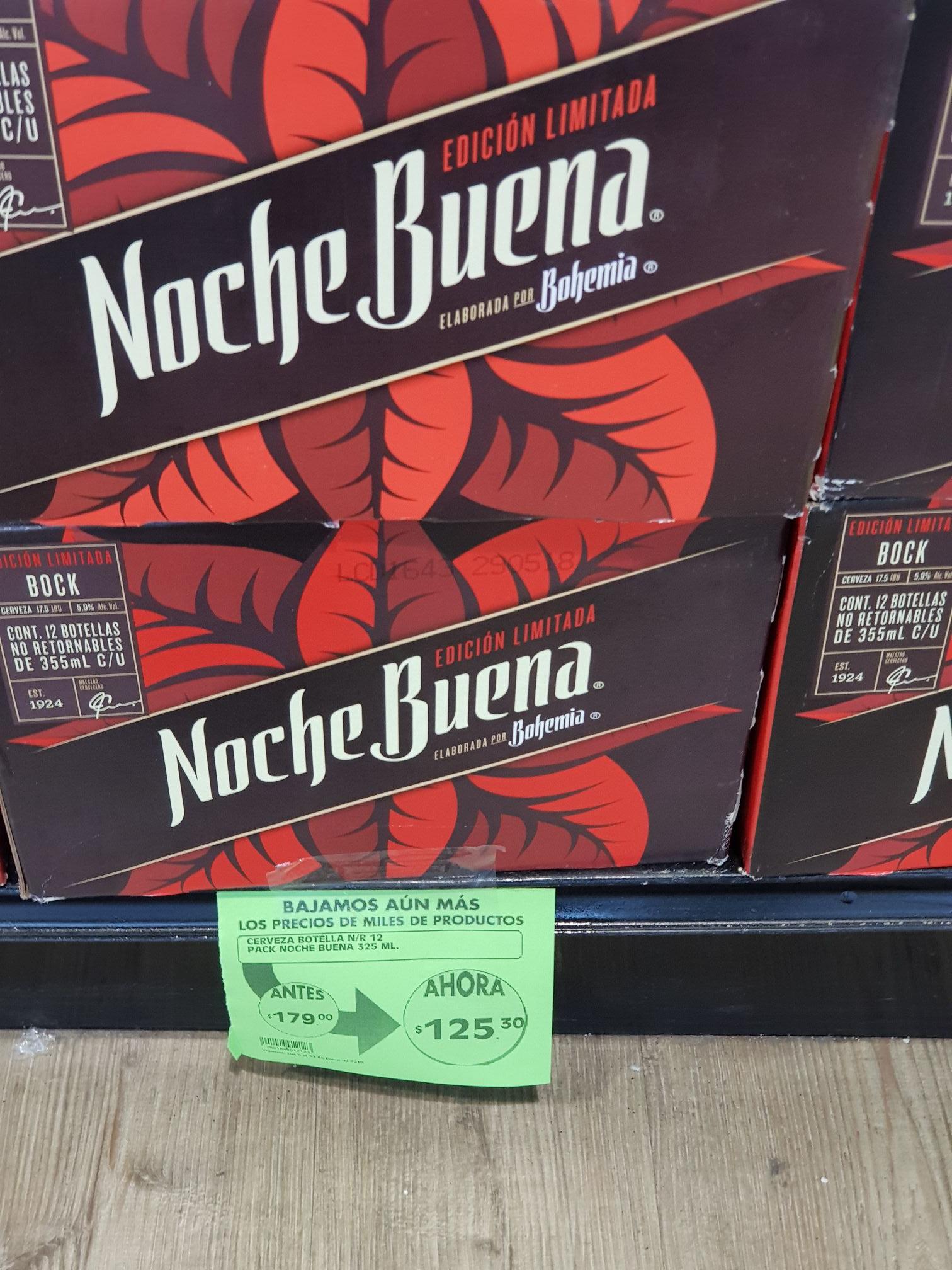 Comercial Mexicana: 12 pack de cerveza nochebuena a $125