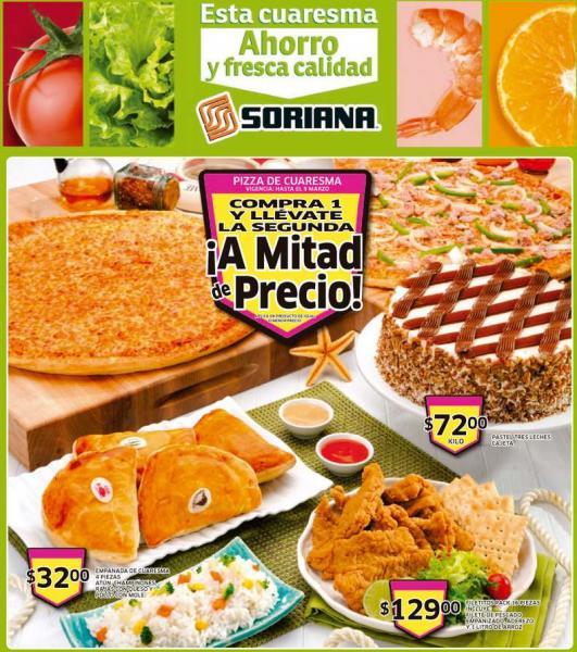 Folleto de ofertas en Soriana del 7 al 13 de marzo