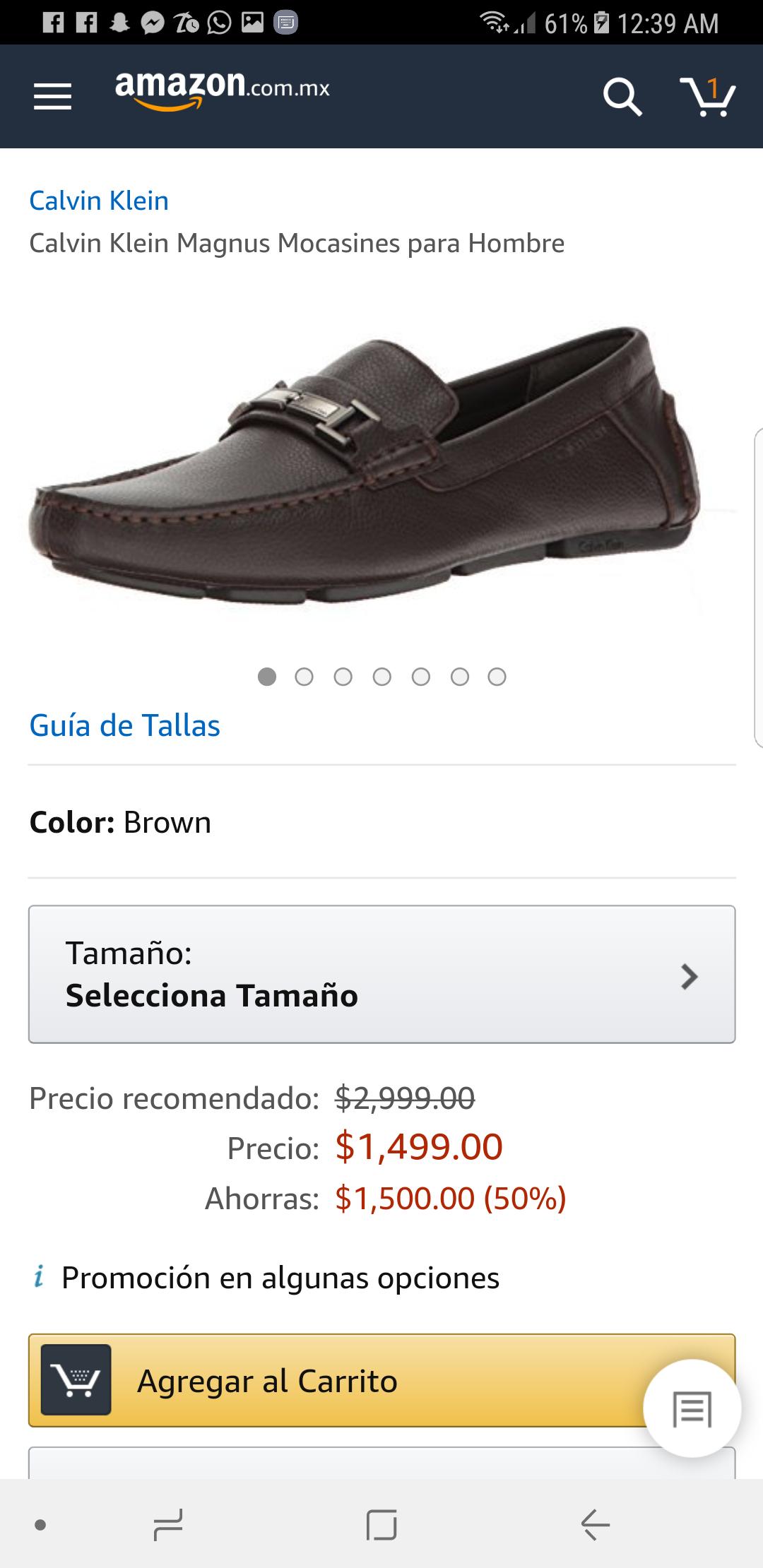 Amazon: Calvin Klein Magnus Mocasines para Hombre