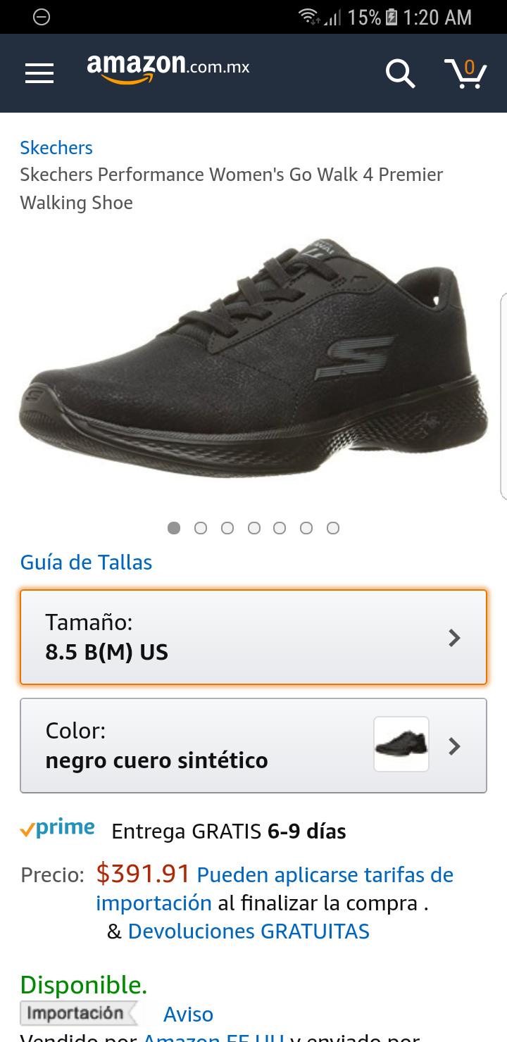 Amazon: Tenis skechers  Mujer Go Walk 4 talla 8.5 usa