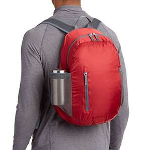 Amazon: AmazonBasics Mochila plegable, ligera, roja, 35 L