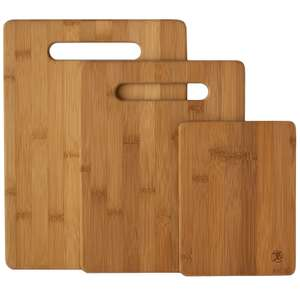 Amazon: Tablas Bambú set de 3 piezas Totally a $199