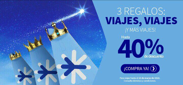 Interjet: promoción de Reyes Magos: hasta 40% de descuento en vuelos seleccionados