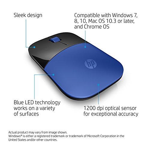Amazon: Ratón Inalámbrico HP Azul Hewlett Packard Z3700