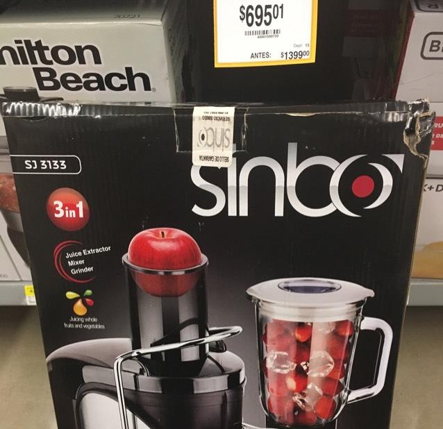 Walmart extractor de jugos multifuncional 3 en 1 SINBO