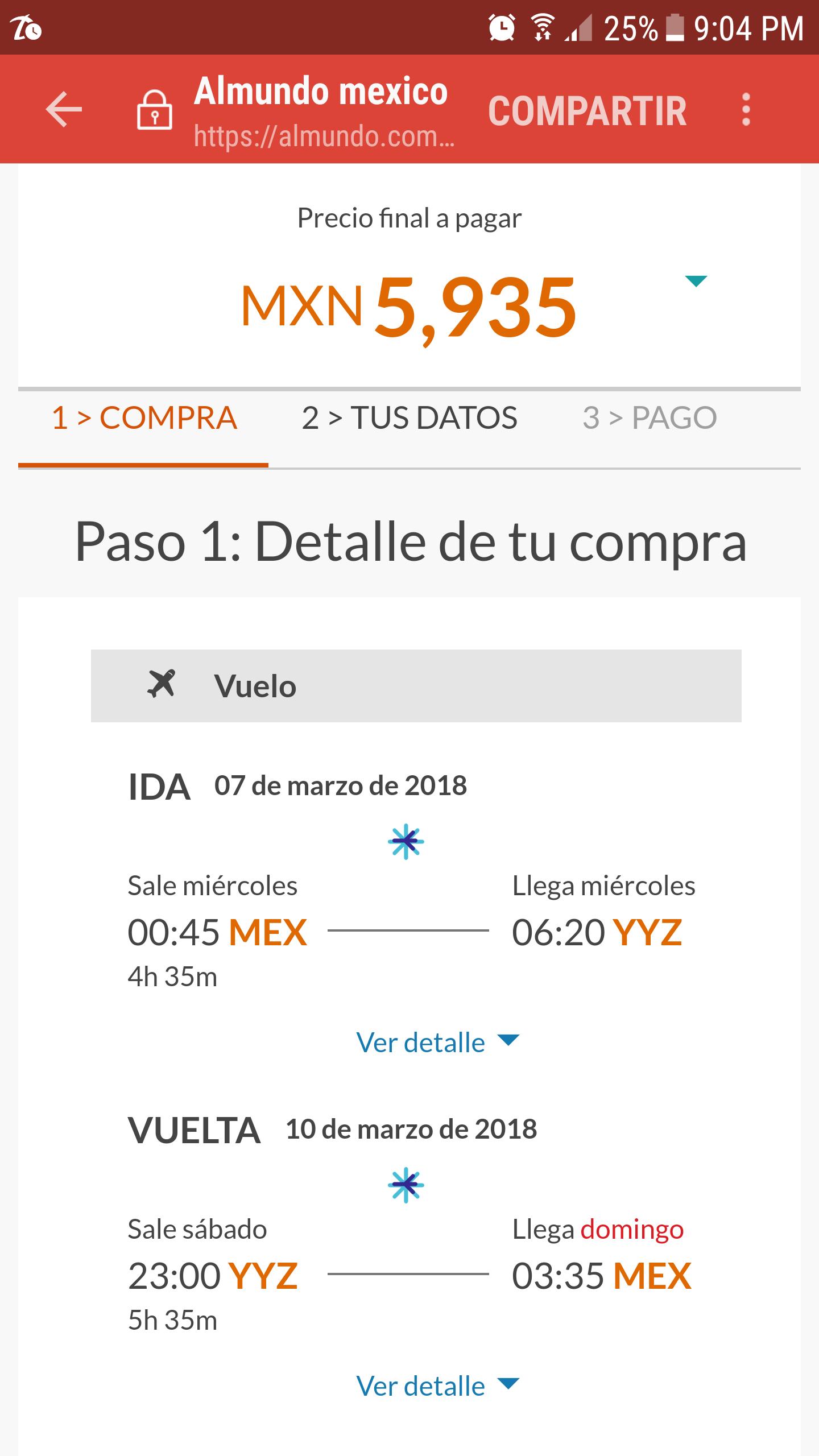 Almundo.com: vuelo redondo Mexico-Toronto Canadá