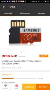 Gearbest: Micro SD 32 GB clase 10 UHS I  Samsung
