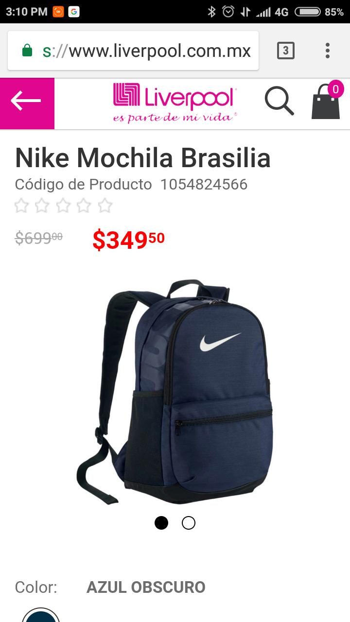Liverpool: Mochila Nike Brasilia Mediana