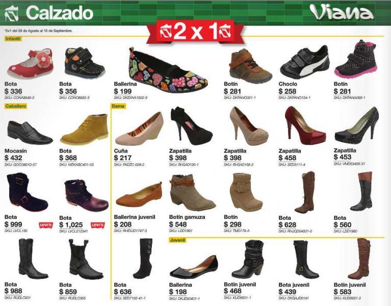 Viana: 2x1 en zapatos seleccionados y más