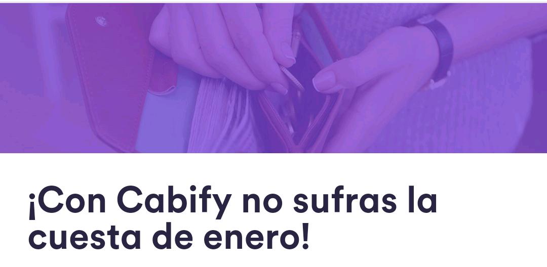 Cabify: Doble de viajes que realices del 8 al 12 de enero con 50% del 22 al 31