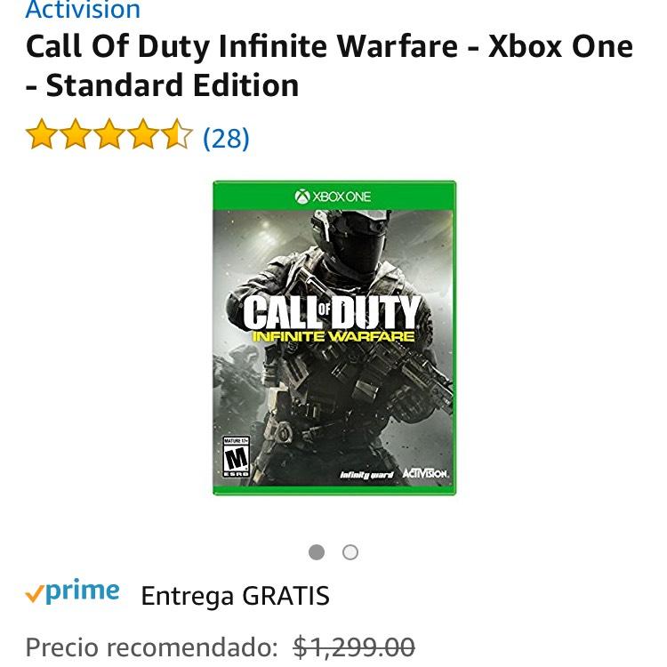 Amazon: Call Of Duty Infinite Warfare para Xbox One