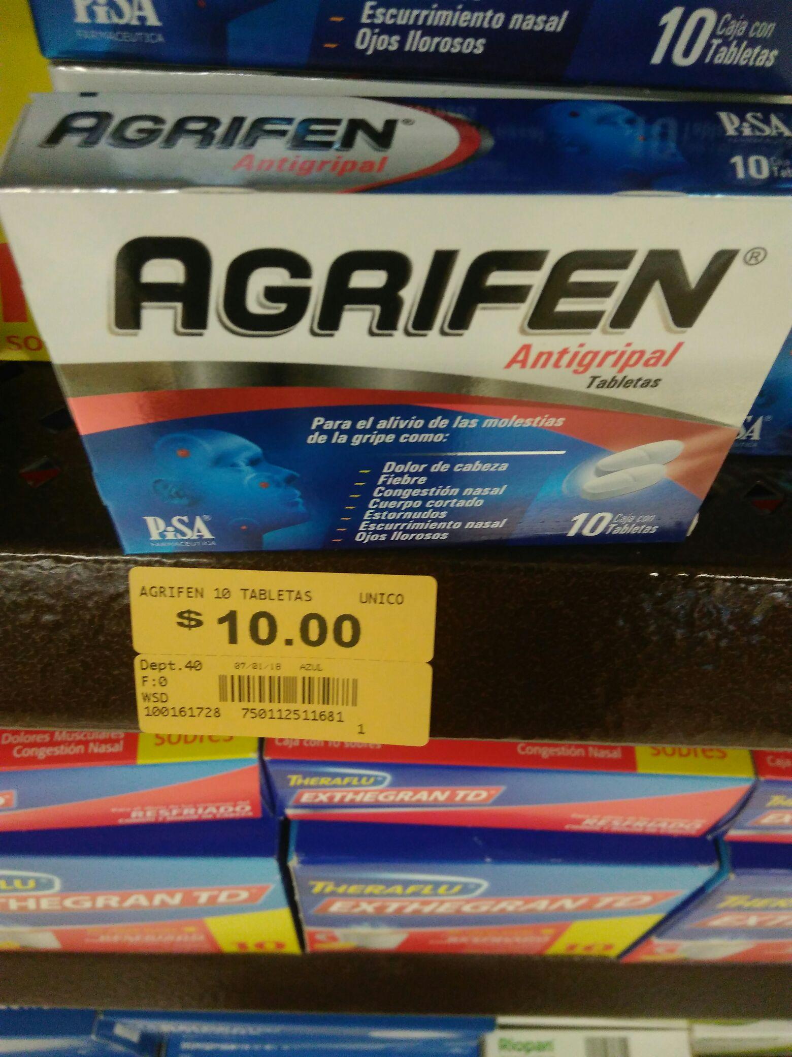 Superama Las Águilas CDMX: Agrifen antigripal a $10 pesos