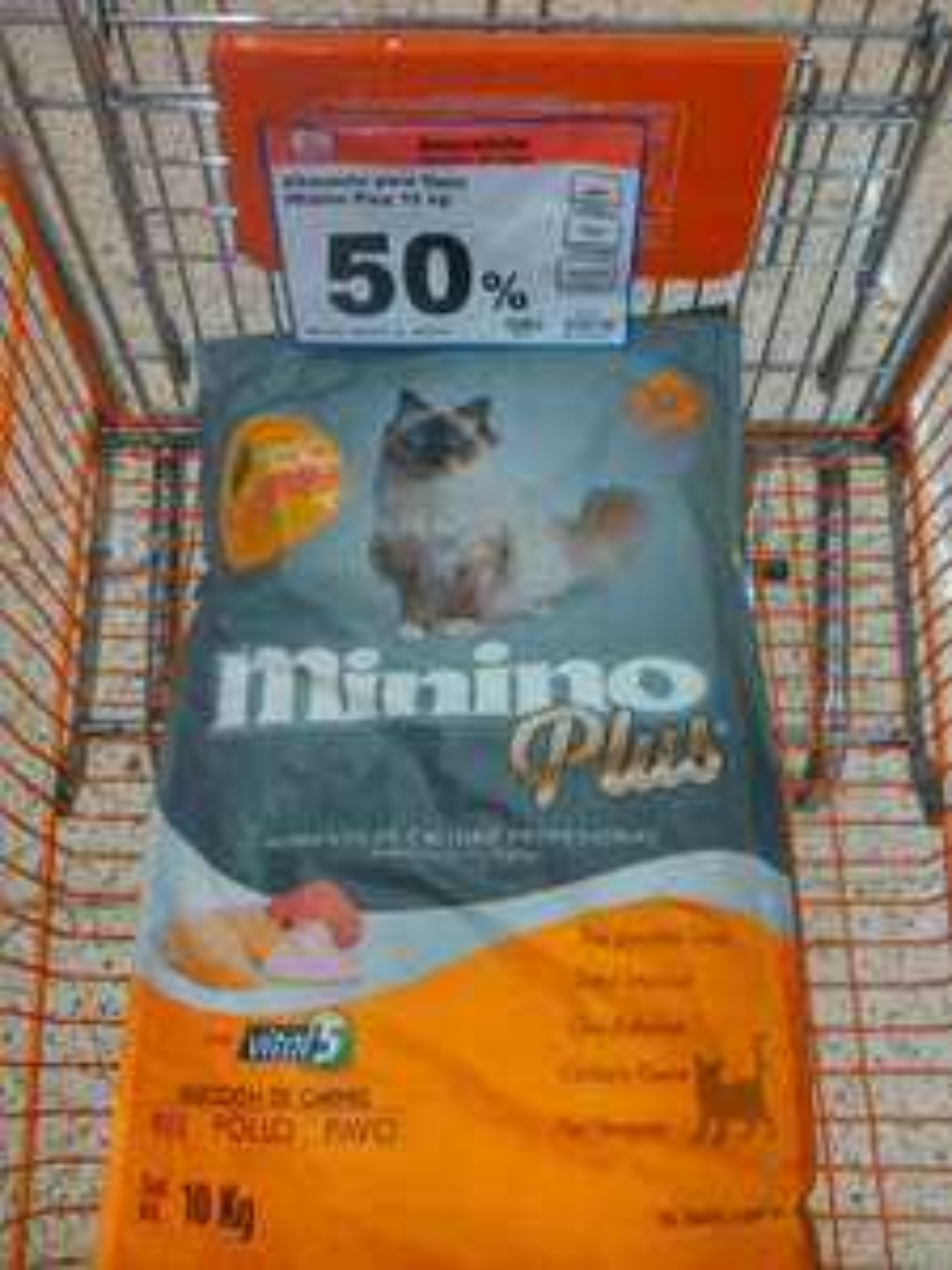 CHEDRAUI: alimento para gato minino plus 50% de descuento