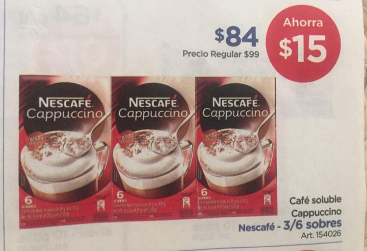 Sam's club: Nescafé capuccino pack de 3 cajas
