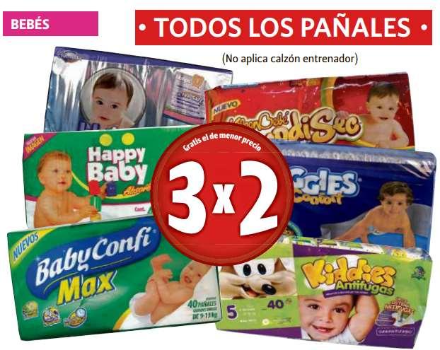 Farmacias Guadalajara: 3x2 en todos los pañales, pastas La Moderna, desodorantes AXE y más