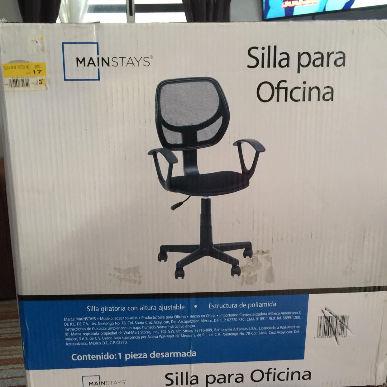 Bodega Aurrerá: Silla para oficina a $82.01