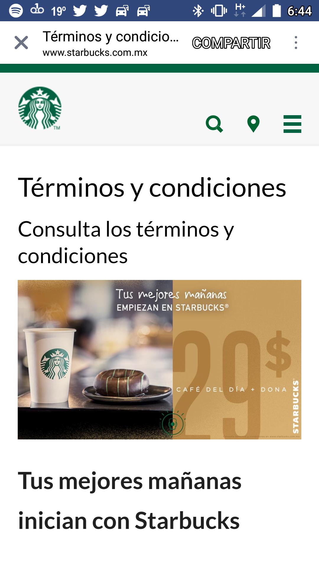 Starbucks: Dona más café por $29 pesitos