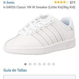 Amazon: Tenis K-Swiss talla 15.5MX 9US