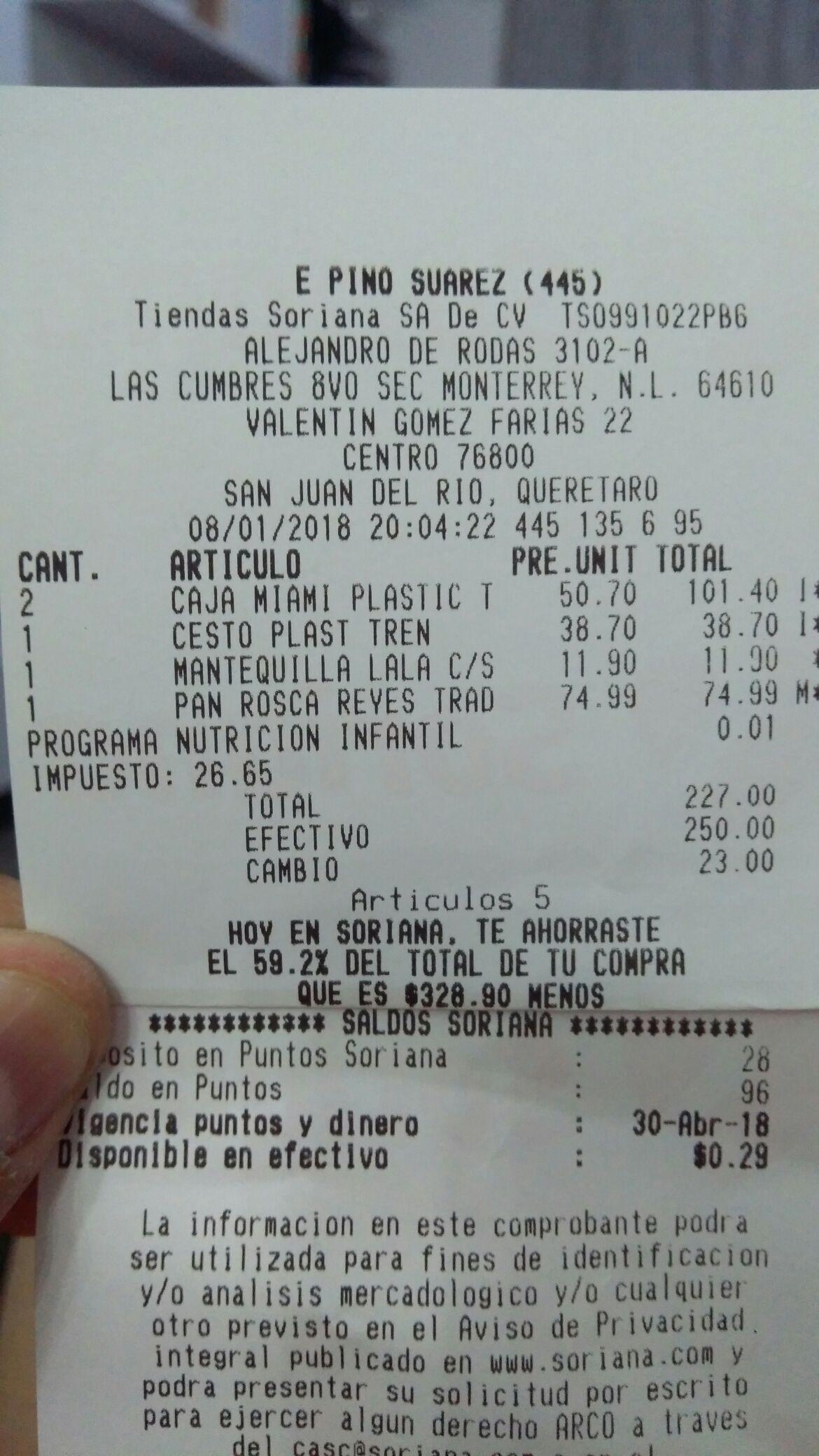 Soriana: Varias ofertas cestos, cajas y roscas