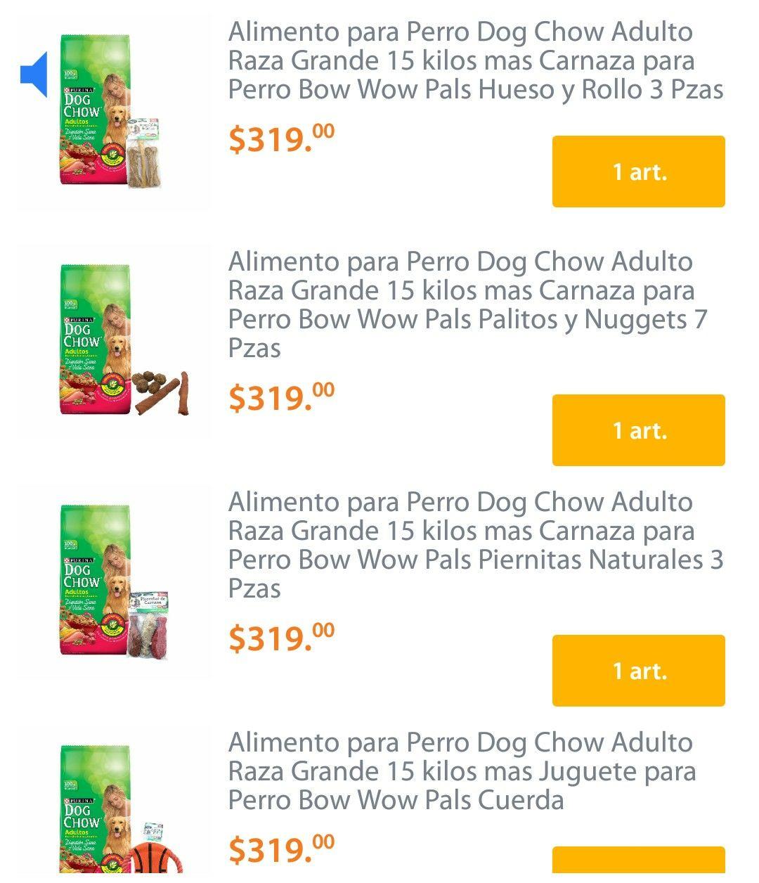 Walmart: Dog Chow 15kg con regalo y no es la bolsita roja