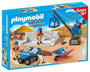 Amazon: Playmobil Construction Site SuperSet