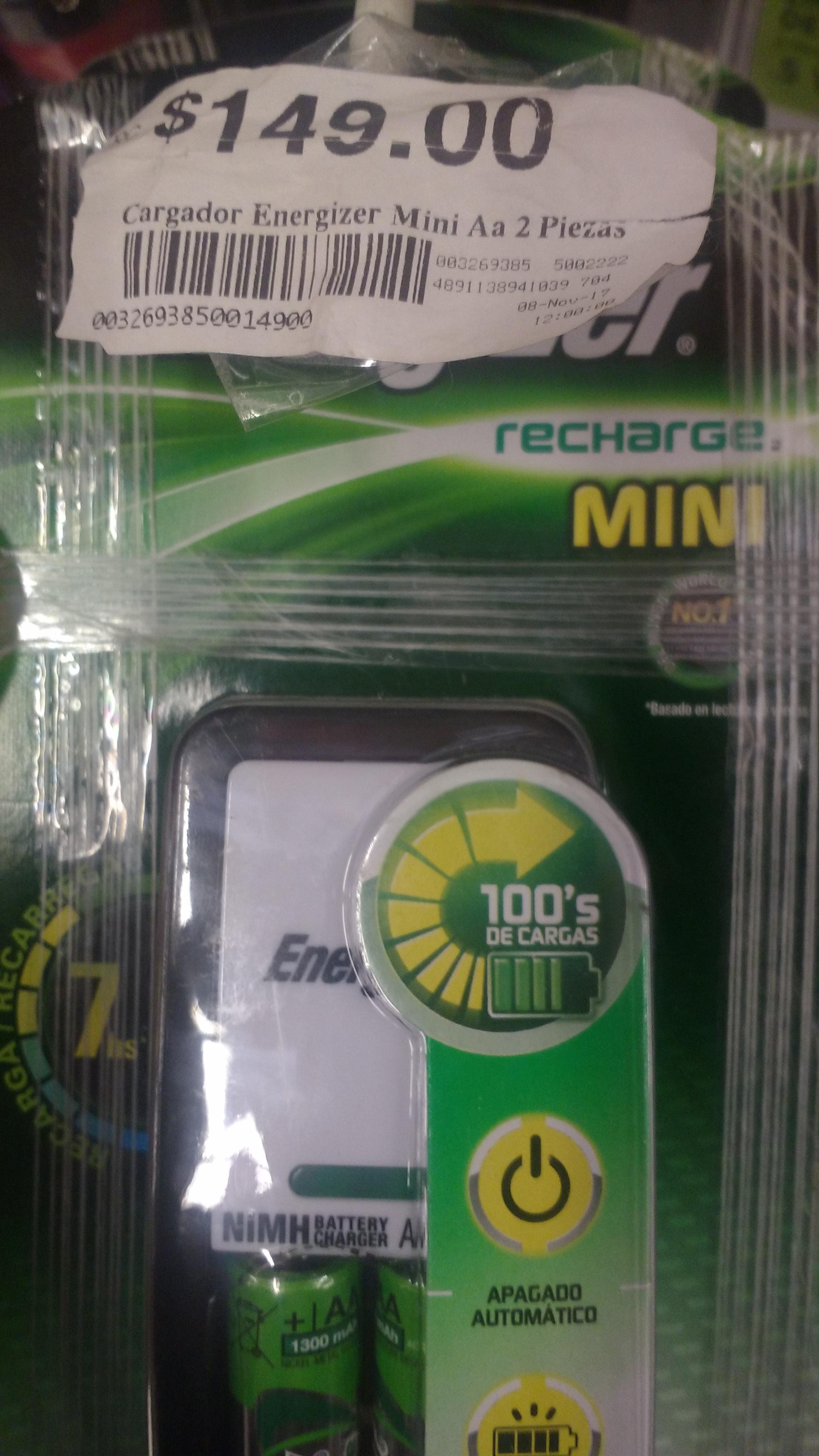 Chedraui y Bodega Ahurrera: Baterías recargables Energizer AA + Cargador