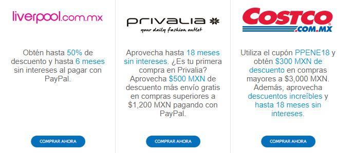 PayPal: ofertas de enero 2018 (Oysho, Linio, Costco, Groupon y más)