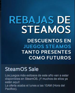 Rebajas en Juegos Viejos y Nuevos optimizados para SteamOS