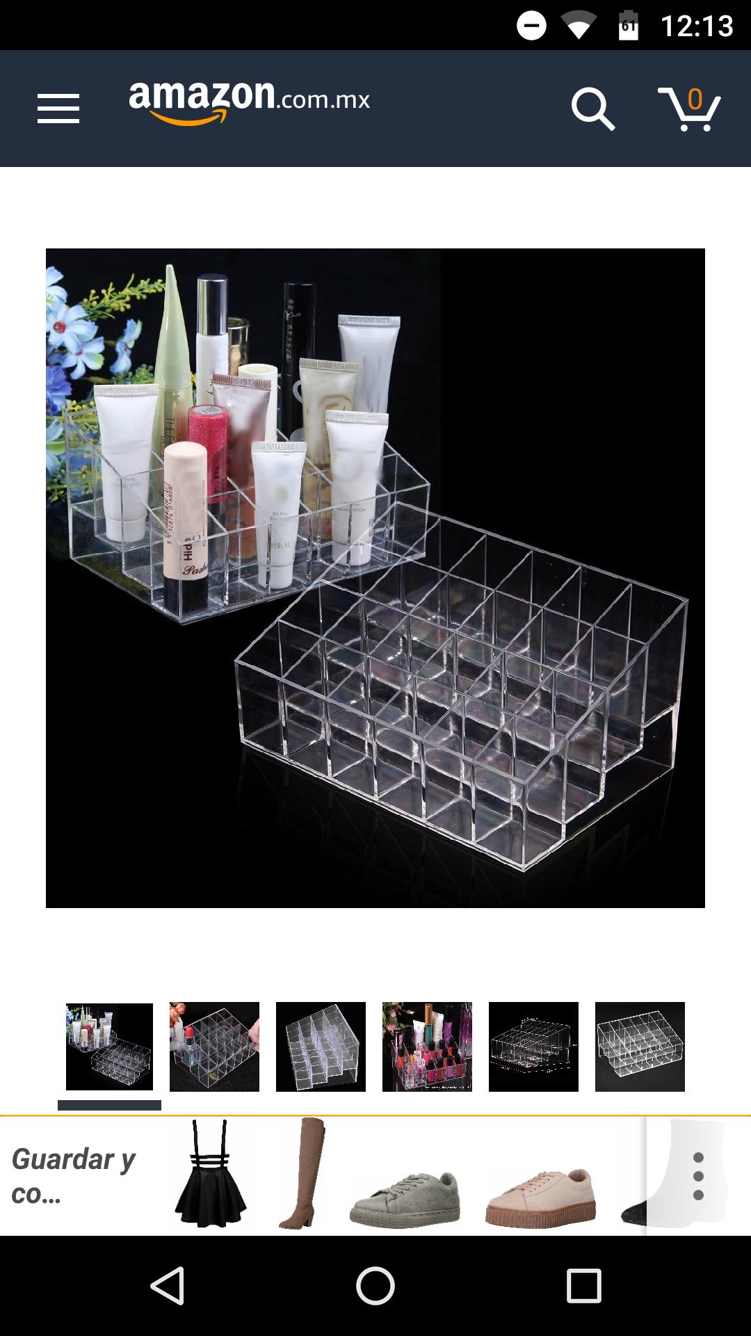 Amazon: Organizador para cosméticos (vendidoy enviado por un tercero desde China)