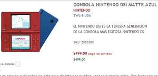 RadioShack: Nintendo DSi $499