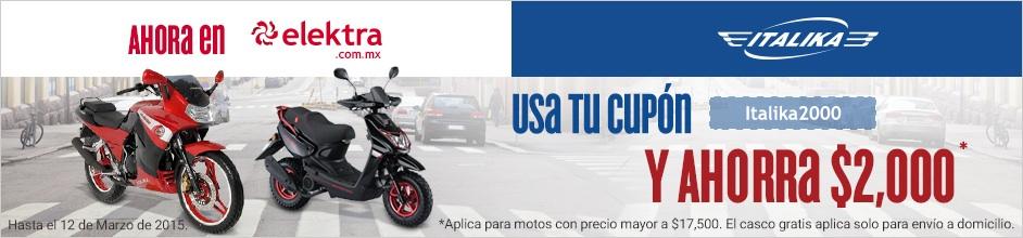 Elektra: -2000 en motonetas italika