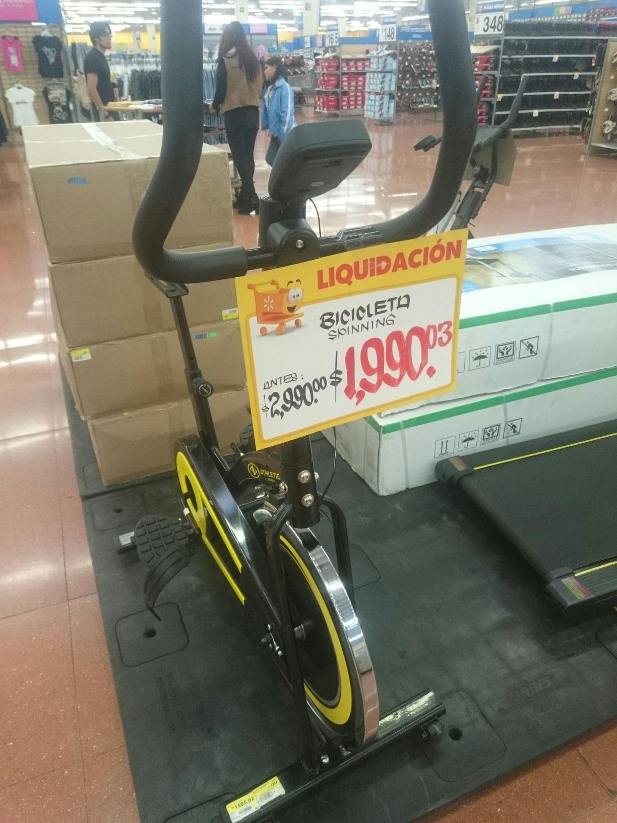 Walmart: Bicicleta Spinning a $1,990.03
