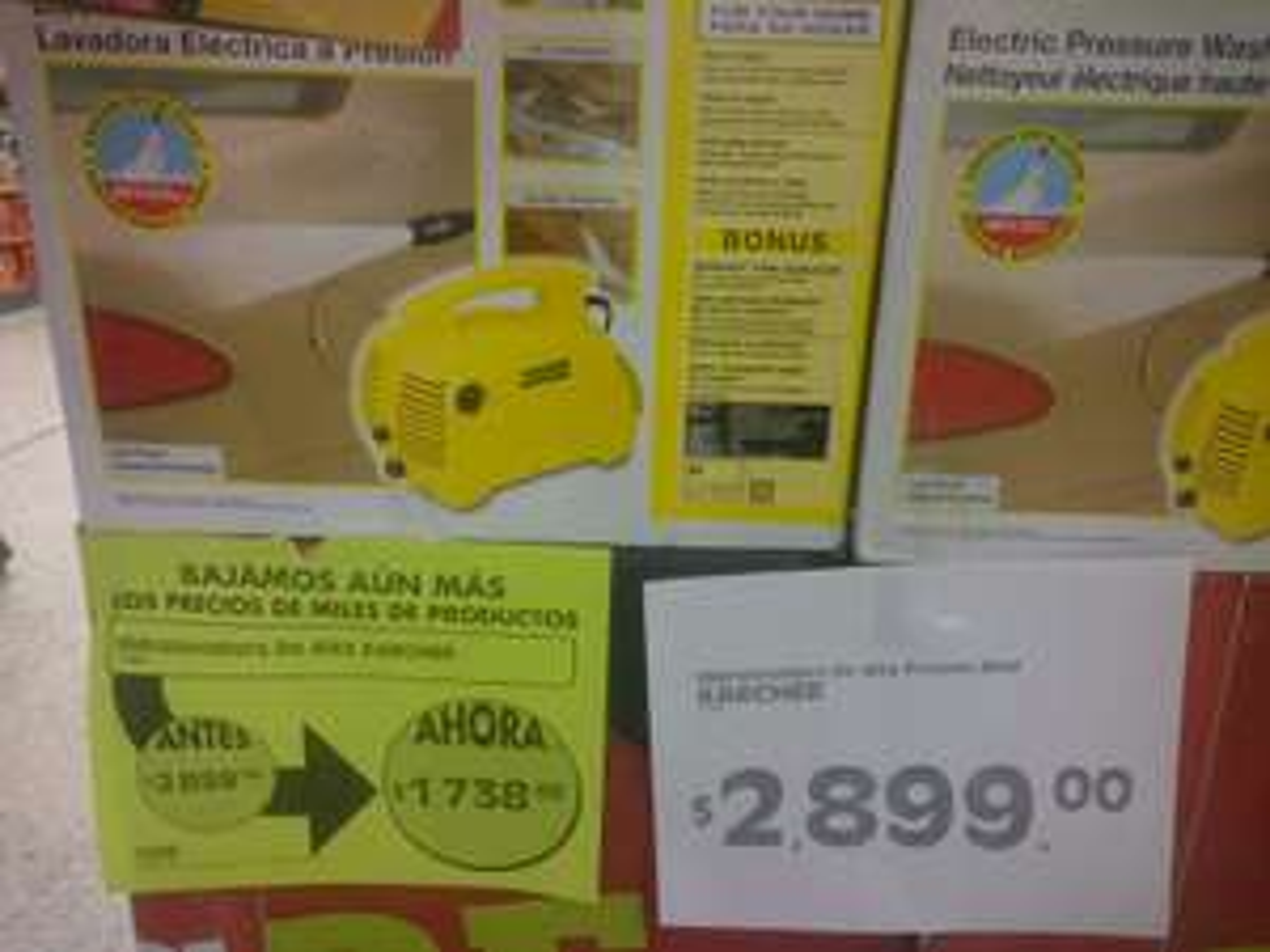 Comercial Mexicana: Hidrolavadora Alta Presión Karcher a $1,738