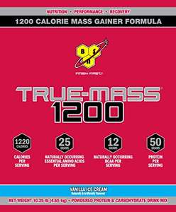 Amazon: BSN Proteína True Mass 1200, Sabor Vainilla, 10.38 Lb
