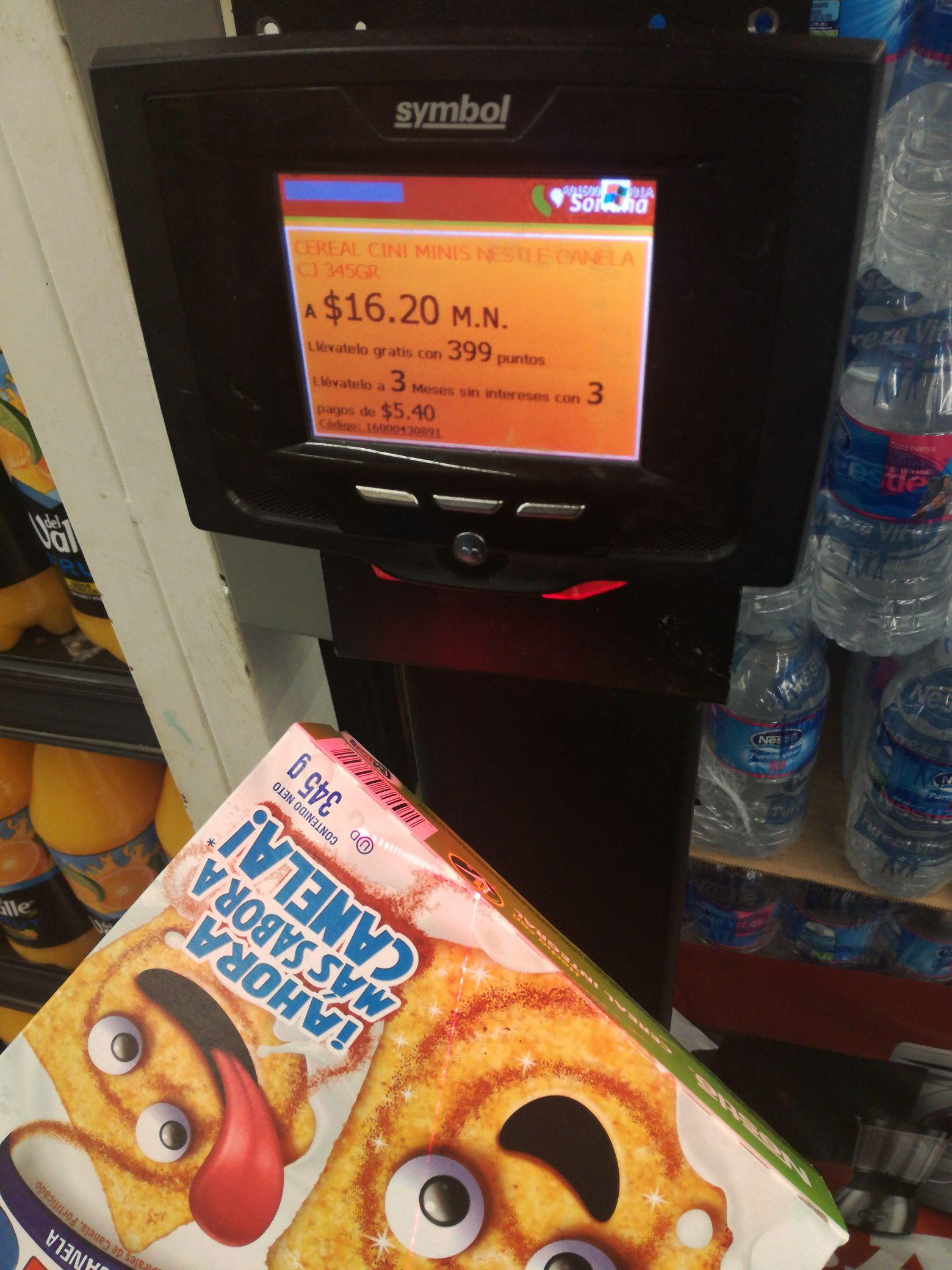 Soriana: Cereal cini minis 345gr