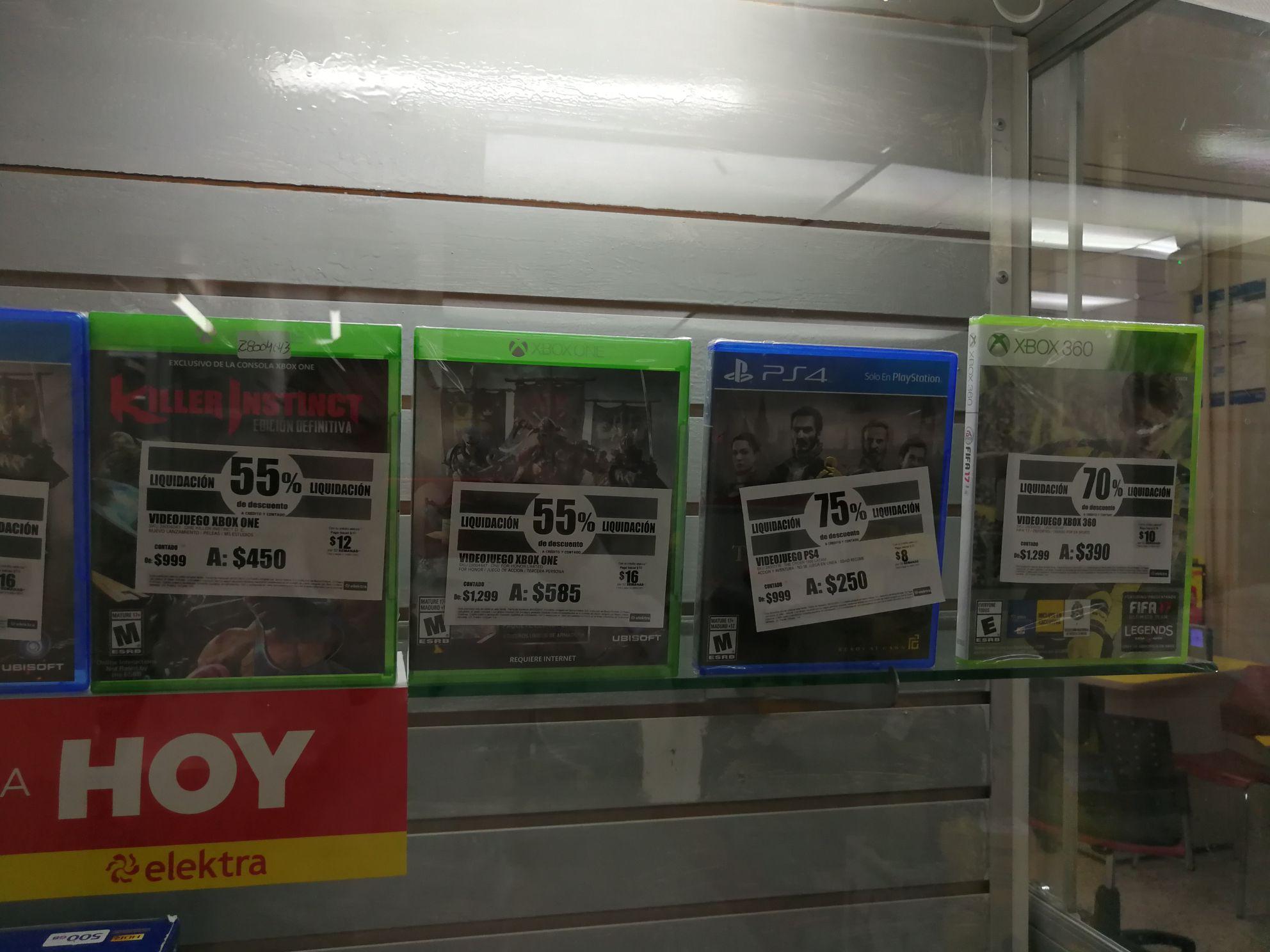 """Elektra: """"Liquidación"""" de juegos de PS4 y XBOX ONE"""