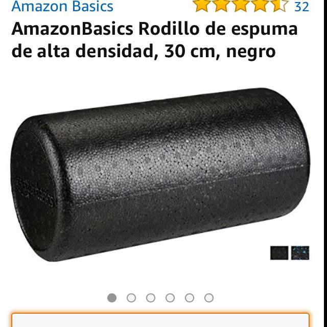 Amazon: Foam Roller, rodillo de espuma para masajes.