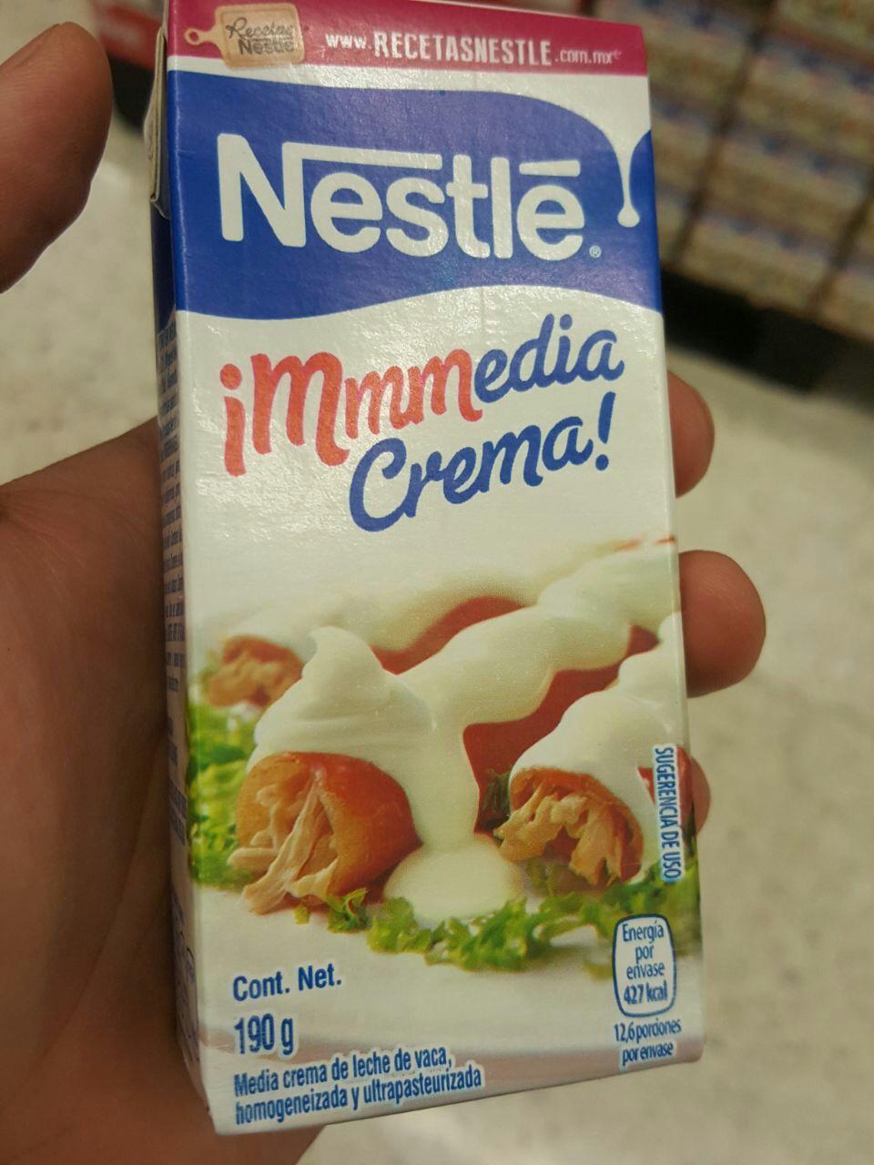 Chedraui: Media crema Nestle | Tuxtla Gutierrez