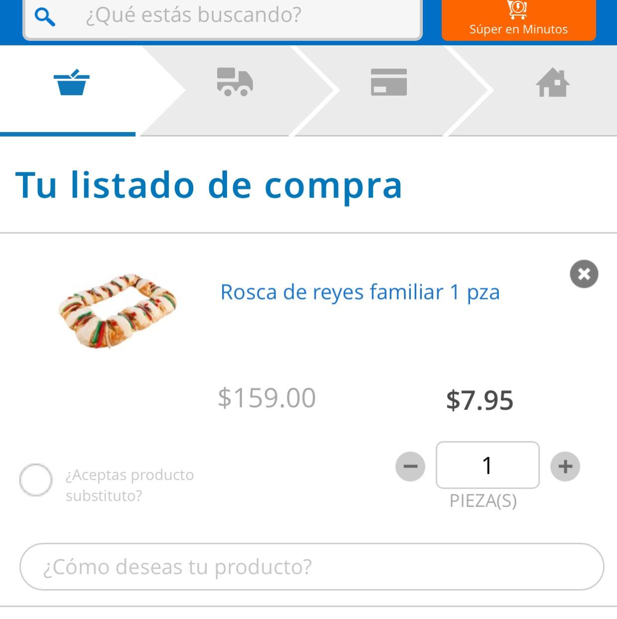 Walmart: Rosca de reyes a $7 devaluados pesos.
