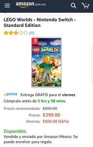 Amazon: lego Worlds - Nintendo Switch - Standard Edition