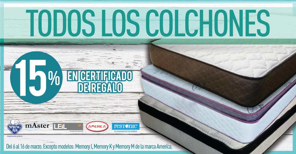 Suburbia: 15% en Certificado de Regalo en la compra de Colchones.